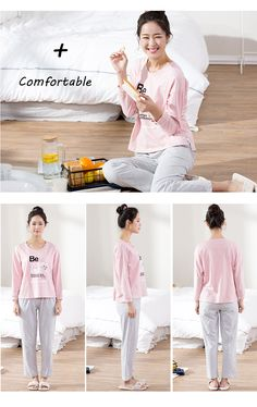 Anzhiban 2017 New Arrival Autumn Lover s Pajamas Sets Suit knitted Cotton  Long-Sleeved Sleepwear Casual Couple Home Nightgown 357291335