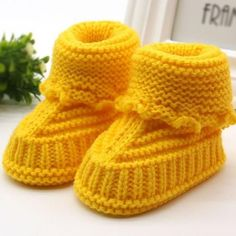 Baby Girl Handmade Newborn Knit Booties