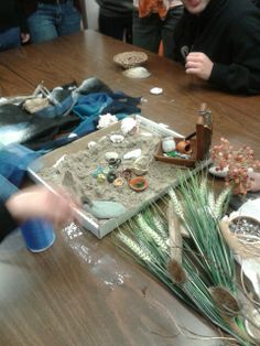 Adding different materials to our sand beach
