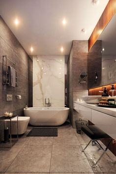 Often we have found that people love nothing more than to come up with new master bathroom ideas for their home. It can be one of the most exhilarating features to design and complete for owners. Your master bathroom is… Continue Reading → Modern Master Bathroom, Bathroom Red, Bathroom Layout, Bathroom Ideas, Bathroom Organization, Master Bathrooms, Modern Bathrooms, Bathroom Mirrors, Bathroom Wallpaper