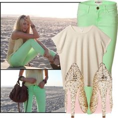 still on the hunt for the perfect shade of mint jeans