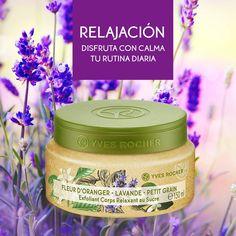 Renueva tu piel con las partículas de azúcar contenidas en éste #exfoliante corporal con aciete esencial de #lavanda, Flor de Naranjo y Petitegrain.