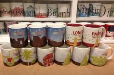 Starbucks Christmas city mugs