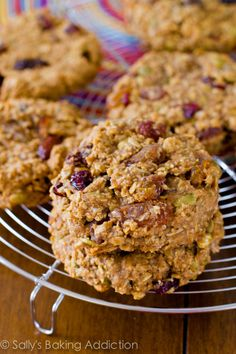 Quick & easy Breakfast Cookies.  Dump all of the healthy ingredients into a bowl and mix!  They are ready within 30 minutes. Grab them and go!  Gluten free, refined sugar free, and vegan.