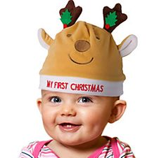 Plush Reindeer Antlers Headband - Party City | Christmas Eve Party ...