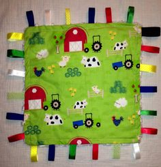 Minky tag blanket by CashAndCari on Etsy