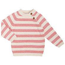 Buy John Lewis Baby Stripe Jumper, Pink Online at johnlewis.com