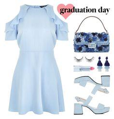 """Graduation Day Style"" by lgb321 ❤ liked on Polyvore featuring Fendi, New Look, Prada, Oscar de la Renta, Ice + Jam, tarte, Graduation and polyvoreeditorial"