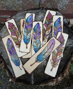 Get this bookmark at www.MarkedByMary.etsy.com ! • • • #ilovebooks #booksandtea #booksandcoffee #oldbooks #books #booklover #booknerd #bookworm #bibliophile #woodbookmark #woodenbookmark #minibookmark #bookmark #bookmarks #woodburn #feather #featherbookmark