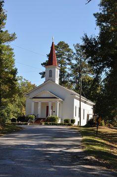 Verbena, Alabama.  This is Verbena United Methodist Church where I went with Grandmother.