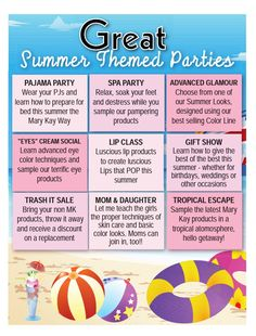 Who likes to party? Pick you theme and msg me today! www.marykay.com/kbenitez