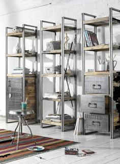 #industrial #wood - these are exactly our furnitures, love them!