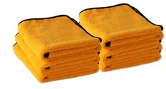 6 Pack Gold Plush Microfiber Towel, 16 x 24 inches