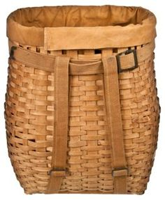 Image result for wood woven market backpack