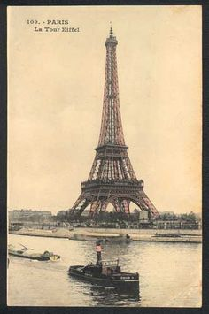 Image shared by Find images and videos about cute, paris and torre eiffel on We Heart It - the app to get lost in what you love. Vintage Postcards, Vintage Images, Vintage Ephemera, Vintage Paper, Vintage Pink, Tour Eiffel, Beautiful Paris, Paris Images, Oui Oui