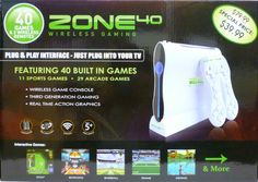 Zone 40 Wireless Gaming System with over 40 unique games great gift for anyone