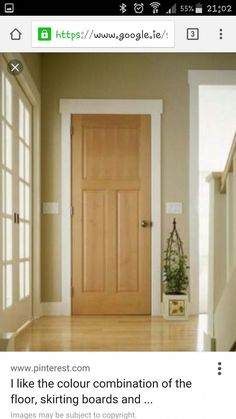 My idea, if you live in apartment . is to make the background on the door frame with adhesive film in the form of an Arab Ornaments Door to stick a Mosaic . later when moving out, it only needs to be removed and then restored normal be 'inshallah Oak Doors, Wooden Doors, Entrance Doors, Panel Doors, Interior Trim, Interior Barn Doors, Wood Door Frame, Door Frames, Doors And Floors