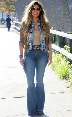 Jennifer Lopez Nails the '70s Trend While Filming Her New Music Video from InStyle.com