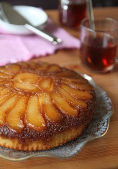 Caramel pear upside down cake. A new take on pineapple upside down cake?