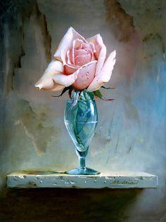 Roses in vases...
