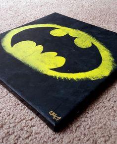 Batman Canvas Painting by ElleiMarie on Etsy