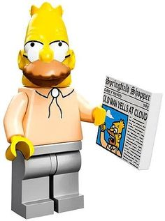 LEGO The Simpsons Collectiable Minifigure - Grampa Gandpa with Newspaper (71005)