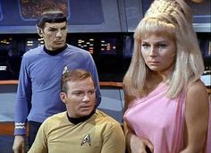Her pointers get Kirk and Spock's attention.  #startrek