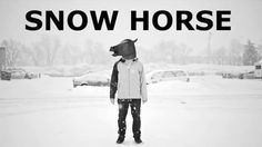 """Game creator Chris Figueroa writes in the video description, """"Welcome to Snow Horse, the snowboarding game you never asked for, where the points are made up and you are a horse riding a snowboard."""""""