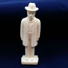 """Jack Daniels Man 1850 - 1911 White Plastic Figurine 2.75"""" tall"""