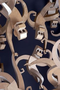 I love these! Cardboard Monkeys.