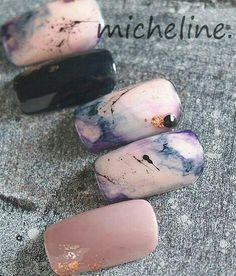 Gel Nail Designs You Should Try Out – Your Beautiful Nails Love Nails, How To Do Nails, Fun Nails, Gorgeous Nails, Marble Nails, Acrylic Nails, Pink Marble, Nagellack Design, Nails 2017