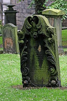Headstone, St Cuthbert Kirkyard Edinburgh, Midlothian, Scotland, UK by Leo Reynolds Cemetery Statues, Cemetery Headstones, Old Cemeteries, Cemetery Art, Graveyards, Angel Statues, Unusual Headstones, St Cuthbert, Deco Design