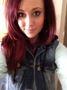 Burgundy hair love it!!