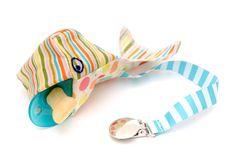 Schnullerband und -aufbewahrung Miki der Pottwal von Blanditos - frische Fische für Babys auf DaWanda.com