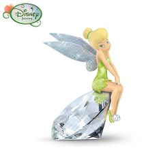 Disney Tinker Bell Diamond Pixie Figurine by The Hamilton Collection: Diamonds are a girl's best friend! Share in the love of diamonds with this dazzling Disney Tinker Bell figurine. Tinkerbell Pictures, Tinkerbell And Friends, Tinkerbell Disney, Peter Pan And Tinkerbell, Tinkerbell Fairies, Peter Pan Disney, Disney Fairies, Disney Fun, Disney Magic