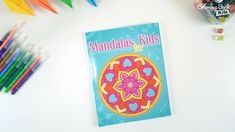 50 simple and easy to color mandala patterns for kids. The perfect coloring book to start your coloring adventure. Easy Coloring Pages, Mandala Coloring Pages, Coloring For Kids, Coloring Books, Mandalas For Kids, Simple Mandala, Mandala Pattern, Adventure, Patterns