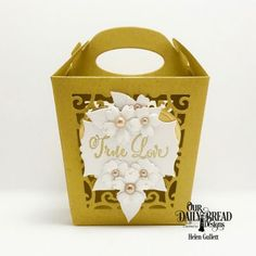 Our Daily Bread Designs Stamp Set: Hugs & Kisses, Custom Dies: Glorious Gable Box, Layering Hearts, Mini Label, Bitty Blossoms