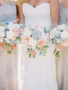 Image result for small cascade bridal bouquet with soft blue