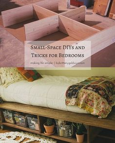Living in a small bedroom? Check out these DIYs and tricks for small-bedroom solutions.