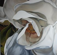 King Magnolia; 120cm square, oil on linen