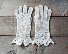 Antique Crochet Lace Edwardian Gloves Anitque by OhDearViolet, $58.00