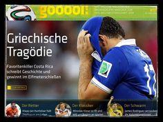 iPad-Lektüre zur Fußball-WM: gooool! Costa Rica, Fit, Baseball Cards, Sports, Psychics, Football Soccer, Tips, Hs Sports, Shape