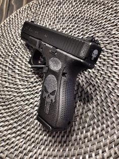 Gen4 Glock 19. Punisher Grips and Backplate. Mepro Night Sights. Competition Spring Kit. Polished Trigger.