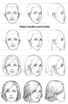 3 4 Front View Anatomy Drawing Female Face Drawing Tutorial Female Head Art Color Pencils On How To Draw The Head From Any Angles Drawing Human Cool Drawings, Drawing Sketches, Drawing Tips, Drawing Tutorials, Drawing Reference, Drawing Ideas, Pencil Drawings, Sketching, Pose Reference