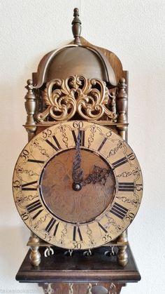 On eBay this Vintage Brass Weight Driven Lantern Wall Clock & Chair Mount John Smith London
