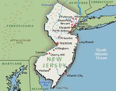 New Jersey - lived in Irvington, Kearney and Old Bridge