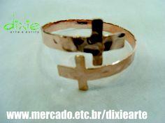 Bracelete Crucifixo Dourado  www.mercado.etc.br/dixiearte