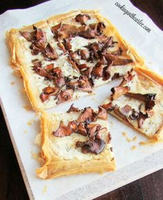 This tart is blow your mind good! The crust is so flaky and the mushrooms, wine and cheese are meant to go together. I promise it is worth making again and again!