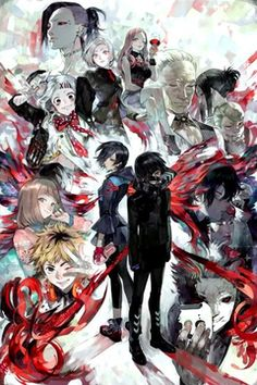 Tokyo Ghoul. VERY dramatic and full of action. I love how the main character, Kaneki, turns after he encounters a ghoul. Once human, and now ghoul, Kaneki becomes a one-eyed ghoul due to an accident. Now he is both ghoul and human. What can he do in such a cruel world?