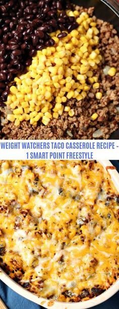 WEIGHT WATCHERS FRIENDLY TACO CASSEROLE RECIPE
